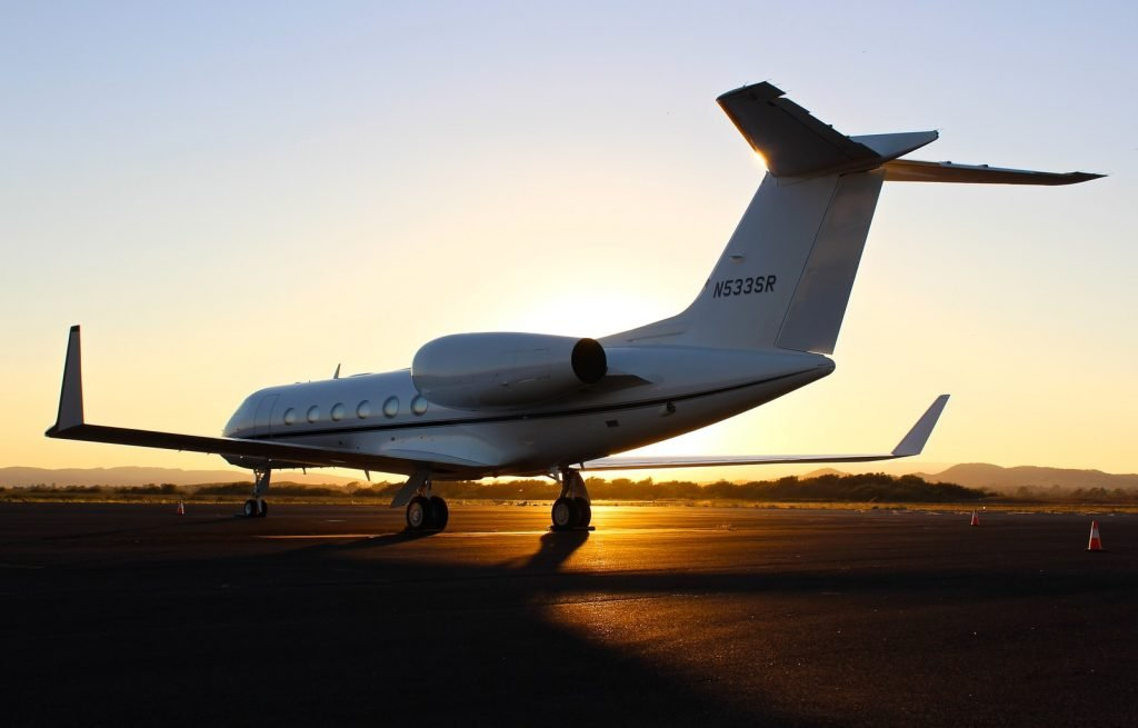 architectural photography of white aircraft